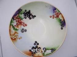 1890s Hand-painted Limoges France Tandv Tressemann And Vogt Large Fruit Or Punch Bowl Center
