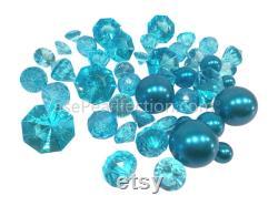 20 Packs Sale Floating Blue Turquoise Pearls No Hole Jumbo Assorted Sizes Floating Vase Decorations
