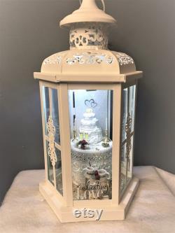 50th Anniversary Gift. Personalized Illuminated Lantern