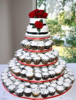 5 Tier Round Large Custom Made Cupcake Stand. Can Hold Up To 156 Cupcakes.