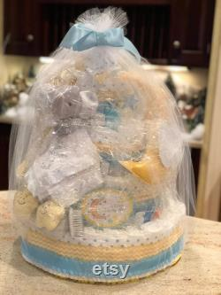 5-level Layer Cake, Twinkle Twinkle Little Star Diaper Cake, Love You To The Moon And Back Diaper Cake