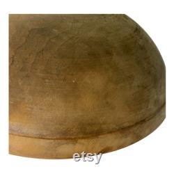 Aafa Antique Wood Primitive Dough Bowl 15 Original Surface Out Of Round