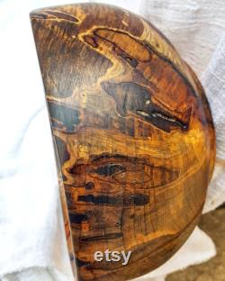 Ambrosia Maple Appalachian Folk Art Wood Bowl Masterpiece Primitive Rustic Farmhouse Fran Ais Country Shabby Chic Home Gathering Decor Ooak