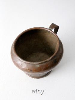 Antique Copper Pitcher Pot