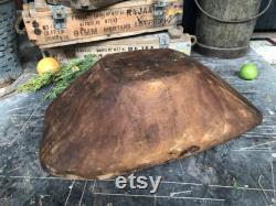 Antique Wooden Dough Bowl, Wooden Bowl, Unique Decorative Bowl, Rustic Decor