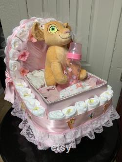 Baby Shower Gift Basketball Lion King Nala Theme Stroller Carriage For A Boy Diaper Cake