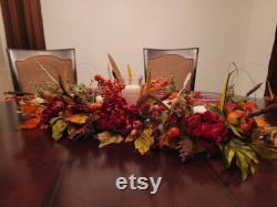 Beautiful Large Masterpiece Of Autumn With 5 Candles