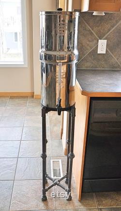 Berkey Water Filter Floor Holder - Factory Stand -display Stand -black Pipe-steampunk Industrial Fast Shipping -custom