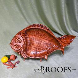 Big Fish Fruit Bol Home Décor Large Unique Hand Carved Bowl Anniversary Gift New Home Gift Natural Alder Wood Candy Dish Broofs