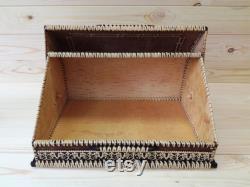 Birch Bark Bread Box Fairy Conte, Russian Souvenir, Birch Bark Bread Box, Birthday Gift, Wooden Bread Box, Beresta Bread Basket