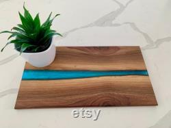 Black Walnut Deli Plank With Epoxy River