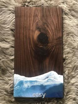 Black Walnut Ocean Theme Service Board, Masterpiece, Charcuterie Board, Decoration