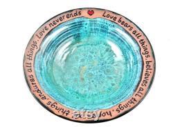 Blessing Bowl, Custom Engraving Pottery For Wedding Gift, Wedding Anniversary Gift 9