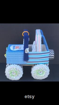 Blue Diaper Cake, Jeep Diaper Cake, Diaper Cake, Jeep Diapers, Unique Diaper Cake, Unique Baby Gift, Diaper Cake Baby, Baby Shower Ideas,