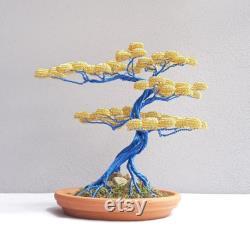 Bonsai Tree Handmade Gift Of Father's Day Bonsai Aluminum Custom Gift Copper Tree Wire Art Handmade Bonsai