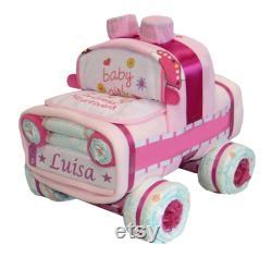Car Diaper Holder With Pink Patrol Car Diaper