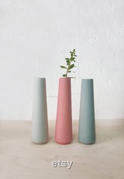 Ceramic Flower Vases 5x, Bud Vase, Minimalist Vase, Single Flower Vase, Table Centerpiece, Decorative Vase, Modern Scandinavian Decor