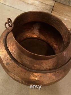 Copper, Copper Pot, Copper Style, Vintage Copper, Hammered Vintage Copper, Withfer Pot Handle, 9x9x4-3 4-inch, Authentic, Rare Style, Vintage