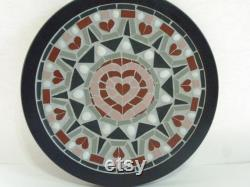 Custom 10-inch Mosaic Platinum Made To Order Geometric Mosaic Mandala Bamboo Trivet 10 Inches Diameter Functional Artwork Handmade