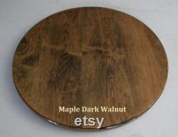 Dark Walnut Maple Lazy Susan Sizes 18 24