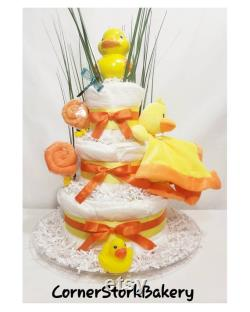 Duck Layer Cake, Duck Baby Shower, Duck Masterpieces, Duck Baby Shower Cakes, Baby Cakes, Baby Shower Gifts, Gender Neutral Gift, Baby