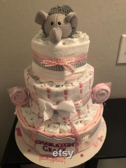 Elephant Layer Cake Of Three Levels
