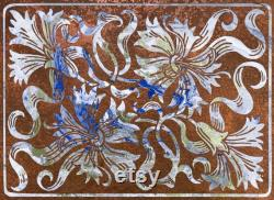 Embossi Printed Stove Cover Reversible Bamboo Cutting Board (29 X21 Standard Range Size) Coppered Marbled Floral 0037