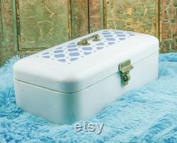 Enamel Bread Box Enamelware Bread Bin Large Art Deco Bread Box Emaillee Broodtrommel Brotkasten