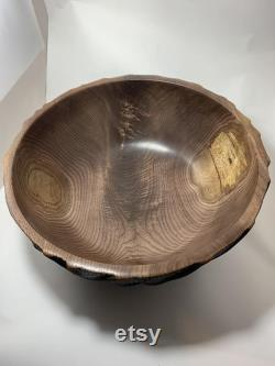 Extra Large Hand-carved Walnut Bowl (16.5x6.75)