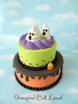 False Cake Fake Halloween Ghosts Decor Food Kitchen Display Suitable For Expledge