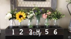 Farmhouse Centerpiece, Fixerupper Decor,rustic Kitchen Table Decor, Rustic Mantle Decor, Metal Vases, Centerpiece, Console Decor, Wood Tray