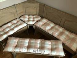 Four-room Nook Dining Room Set With Ties On Single Bench Cushion