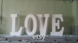 Free Delivery Love Letters Wedding Letter Love Idea Party Of Love 30 Inches High 8 Inches Deep Set Of 4 Letters In Giant Polystyrene Basic Table Letter 3d
