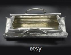 French Handmade Silver Pewter Figural Ice Bucket By Jean Goardère