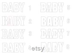Giant Letter In Polystyrene Baby Letters Set Of 4 Basic 3d Table Letters Baby Shower Letters Baby Party Centerpieces 30 Inches High 16 Inches Deep
