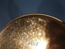Gunnar Ander Ystad Metal Hammered Copper Plate Serving Tray Fruit Plate Swedish Quality