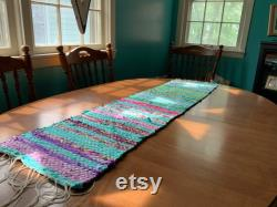 Hand Woven Table Runner Scarf And Fushia