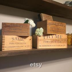 Indoor Herb Planters Sorting Box Wood Recovered Rack Hanging Gift Finger Jointed Box Unique