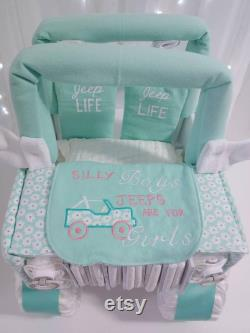 Jeep Diaper Cake For The Girl