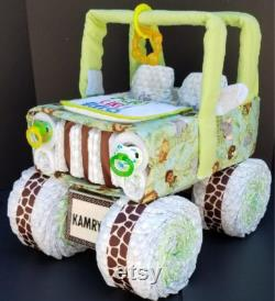 Jungle Layer Cake, Jeep Layer Cake, Safari Baby Shower, Jungle Baby Shower Layer Cake