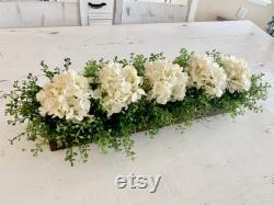 Kitchen Island Centerpiece, Table Centerpiece Dining Room, Coat Decoration, Hydrangea Floral Arrangement, Table Centerpiece, Tv Console Décor