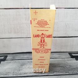 Land O Lakes Nos Waxed Milk Carton, Land O Lakes Collection Carton, Land O Lakes Milk, Land O Lakes Discontinuous Logo, Milk Carton