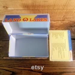 Land O Lakestin Excellent Conditions, Land O Lakes Vintage Recipe Box, Tin Recipes Box, Land O Lakes Collectable, Discontinued Land O Lakes