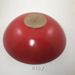 Large Black Walnut Bowl With A Red Exterior (13 X 4)