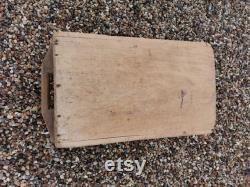 Large Wooden Grain Malt Ball From Fran's Antique Rustic Ais