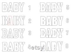 Letters Baby Baby Shower Letters Masterpieces Part 30 Inches High 8 Inches Deep Set Of 4 Letters In Giant Foam Basic 3d Table Letter