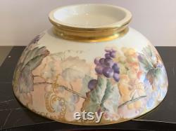 Limoges Gorgeous Huge Antique Hand Painted Porcelain Punch Bowl Masterpiece