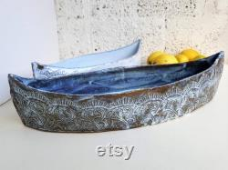 Masterpiece In Sky Blue Ceramic And Fruit Bowl