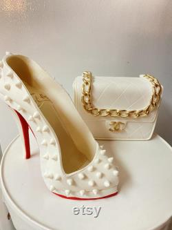 Melting Shoes And Bag Toppers Cake For Fashion Cakes And Handmade Gumpaste Decoration