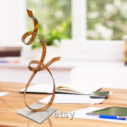 Metal Sculpture, Modern Centerpiece, Coffee Table Décor, Unique Gift For Copper-style Accent Office Décor By Jon Allen